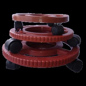 Resistente Base con rodachines para materas 32cm Materas Plásticas y accesorios Vivir para sembrar