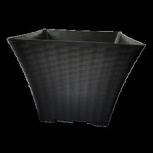 Matera Decorativa Elegante Tipo Rattan 19 Cm Cuadrada. Materas Plásticas y accesorios Vivir para sembrar