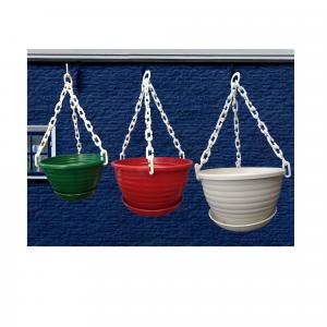 Set de 3 materas colgantes variados colores Materas Plásticas y accesorios Vivir para sembrar