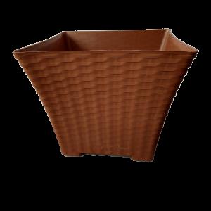 Matera Decorativa Elegante Tipo Rattan 25 Cm Cuadrada. Materas Plásticas y accesorios Vivir para sembrar