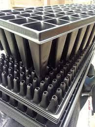 Caja x 100 Bandejas de germinación de 50 cavidades profundas 12cm Bandejas para germinación Vivir para sembrar