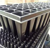 Bandejas de germinación de 50 cavidades profundas 12cm Bandejas para germinación Vivir para sembrar
