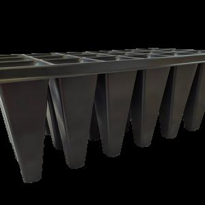 Caja de 50 Bandejas de Germinación de 18 cavidades forestales Bandejas para germinación Vivir para sembrar
