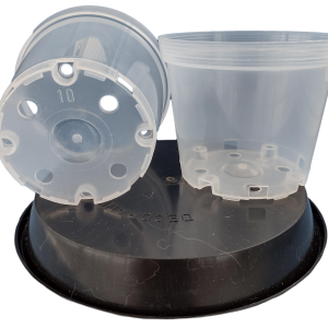 Matera Transparente en 10cm Para Orquídeas Materas Plásticas y accesorios Vivir para sembrar