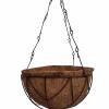 Matera Colgante capacho de coco con Canasta metálica Materas Plásticas y accesorios Vivir para sembrar